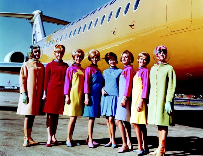 e5efd0ddc Fashion. A Look at Flight Attendant Uniforms Through History